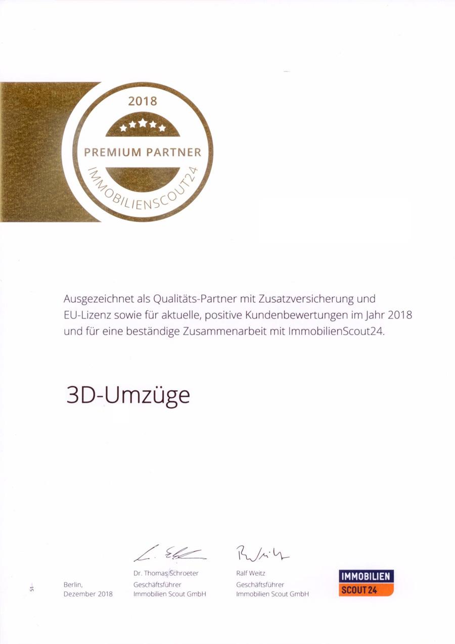 3D-Umzüge in Augsburg: Ausgezeichnet als Qualitätspartner mit Zusatzversicherung und EU-Lizenz.